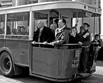 L'autobus à plateforme, souvenirs, paris années 50,